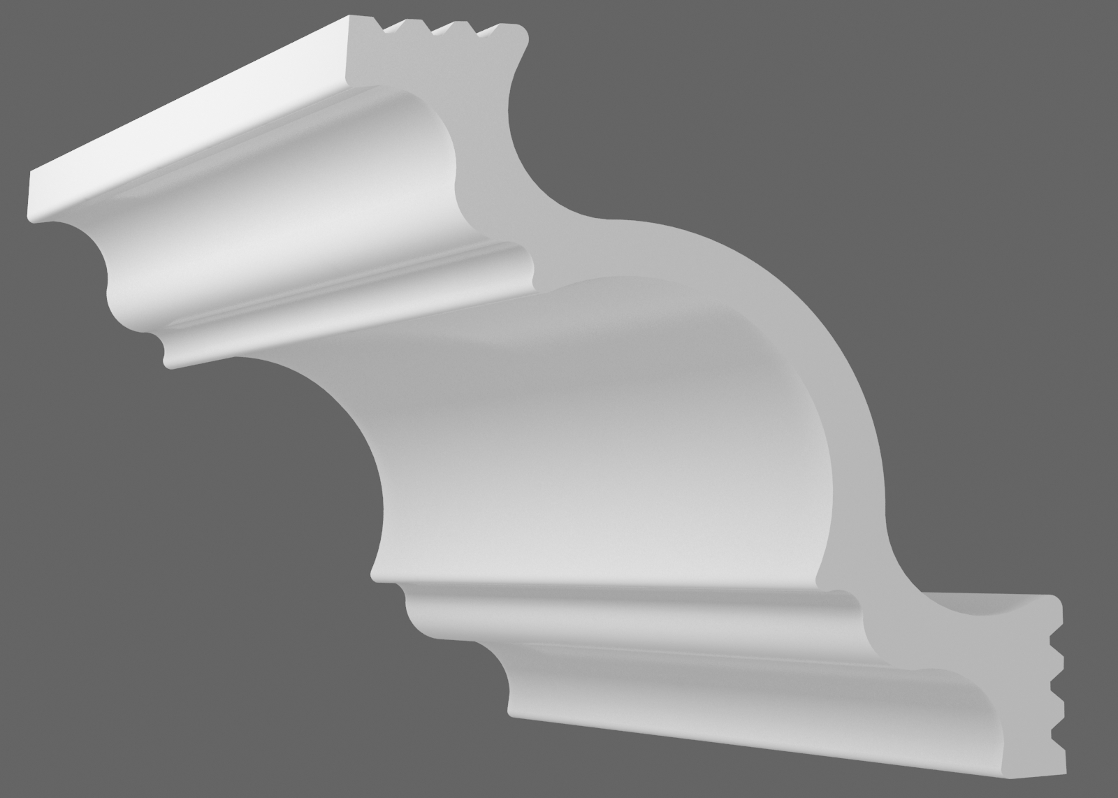 Потолочный плинтус К-100 (Размер:75х75мм)