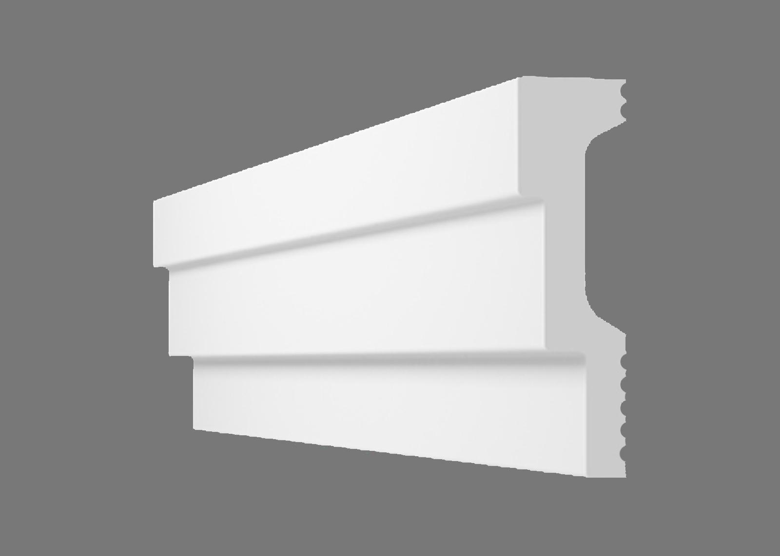 Потолочный плинтус L-60 (Размер:16х60мм)
